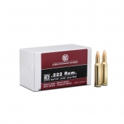 RWS .222 Remington, Match-Jagd 3,37g (50 vnt.)