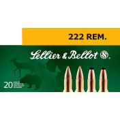 .222 Remington, 3,24 g. (20 vnt.)