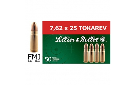 Sellier & Bellot kulka 7,62 mm, Tokarev, 5,5g (50 vnt.)