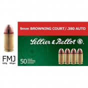 Sellier & Bellot kulka 9 mm, trumpa, 6g (50 vnt.)