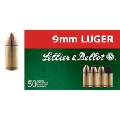 Sellier & Bellot kulka 9 mm Luger, 6,5g (50 vnt.)