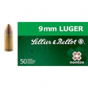 Sellier & Bellot kulka 9 mm Luger, NT, 8g (50 vnt.)