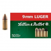 Sellier & Bellot kulka 9 mm Luger, 8g (50 vnt.)