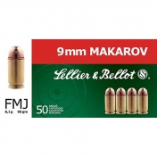 Sellier & Bellot kulka 9 mm Makarov, 6,2g (50 vnt.)